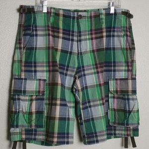 Old Navy Men's Flat Front Plaid Shorts sz 34